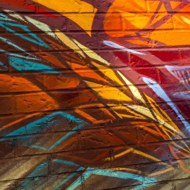 """Graffiti, urban design"" stock image"