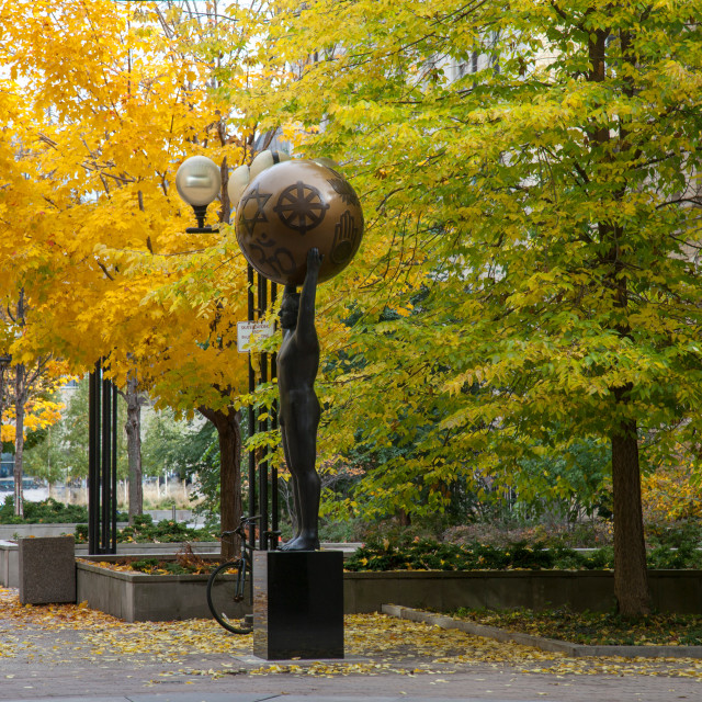 """Modern sculpture in Toronto, Canada"" stock image"