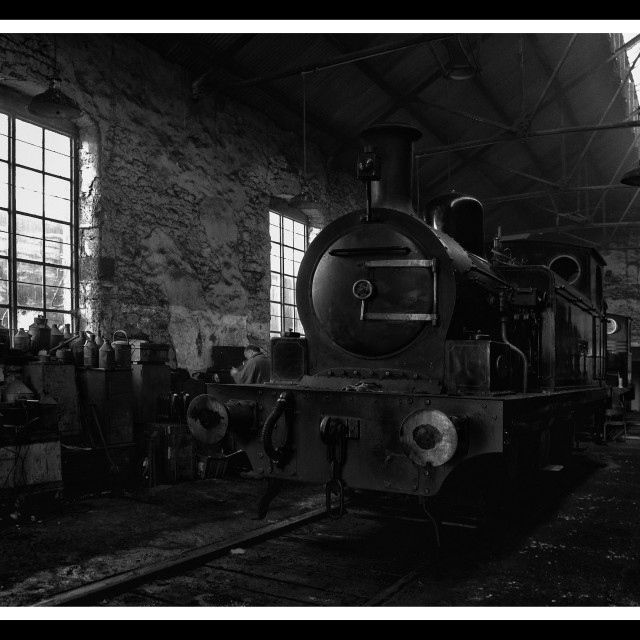 """Tanfield Engine Shed"" stock image"