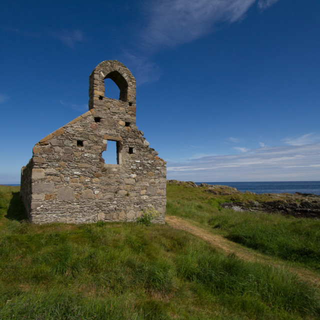 """Church ruin at St Michael's Island"" stock image"