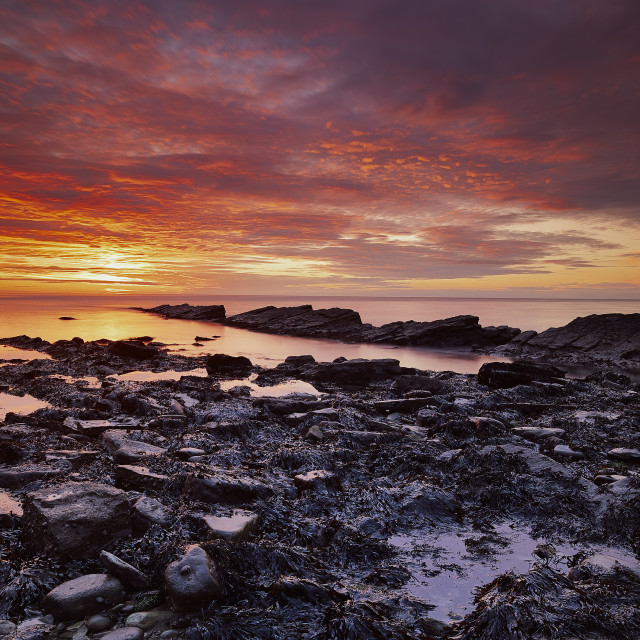 """Sunrise Swanage"" stock image"