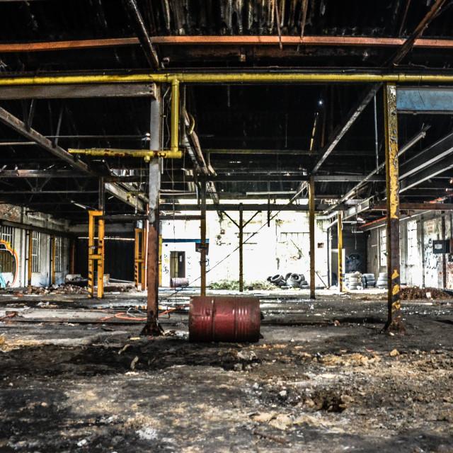 """""""Abandoned Warehouse"""" stock image"""