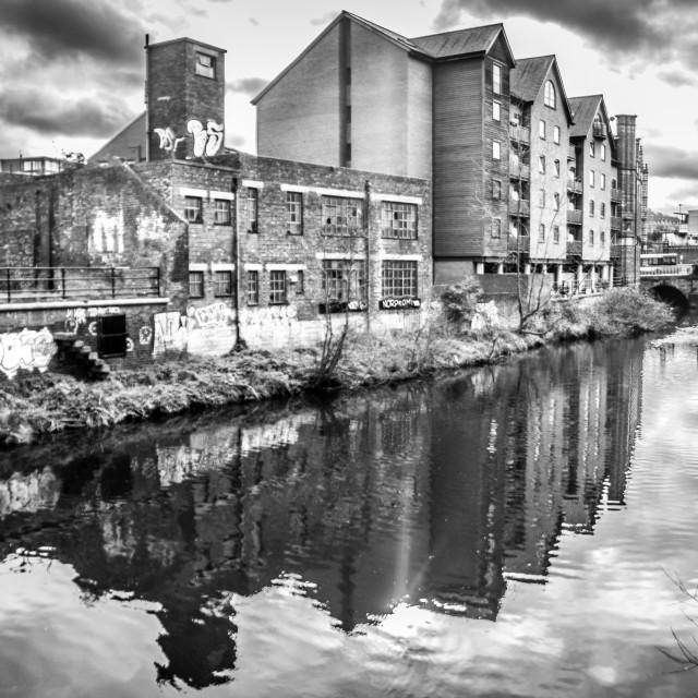 """Sheffield Riverside"" stock image"