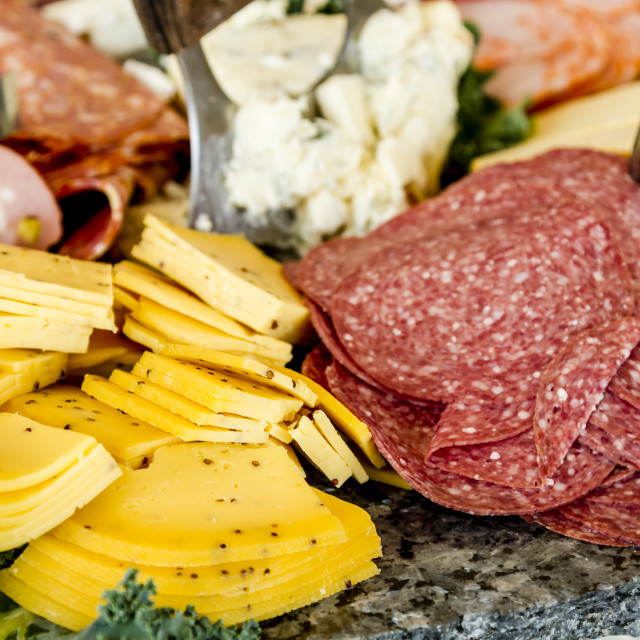 """Meat and cheese party tray"" stock image"