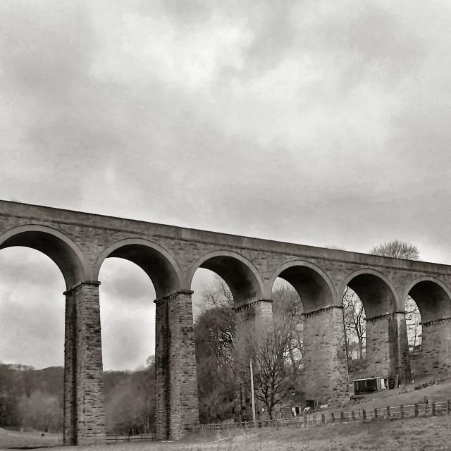 """Viaduct, Buxton."" stock image"