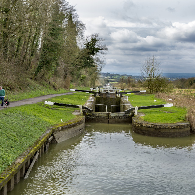"""Caen Hill Locks"" stock image"