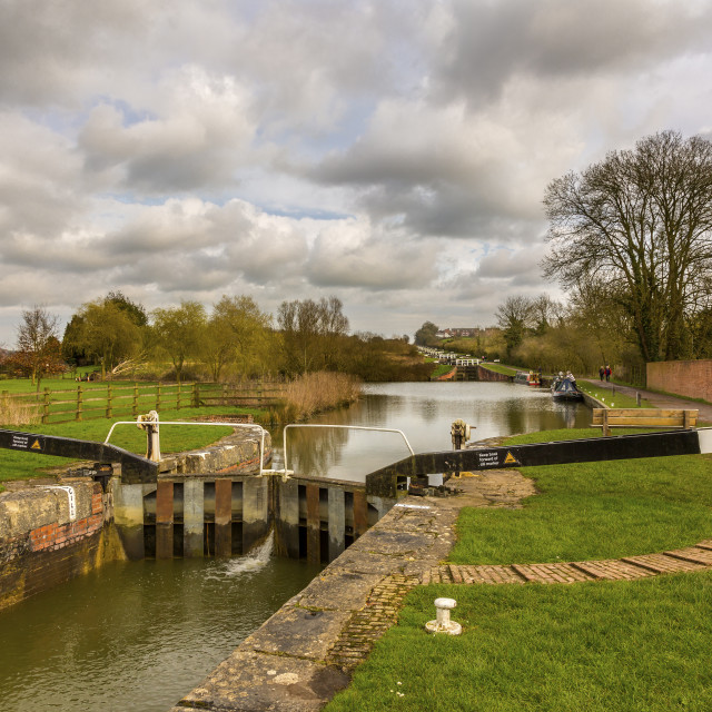 """Kennet and Avon Canal"" stock image"