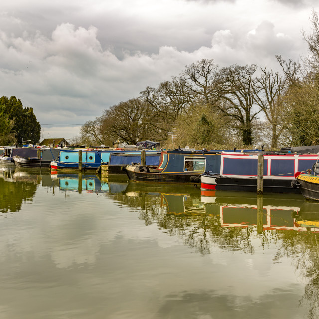"""Canal Boats"" stock image"