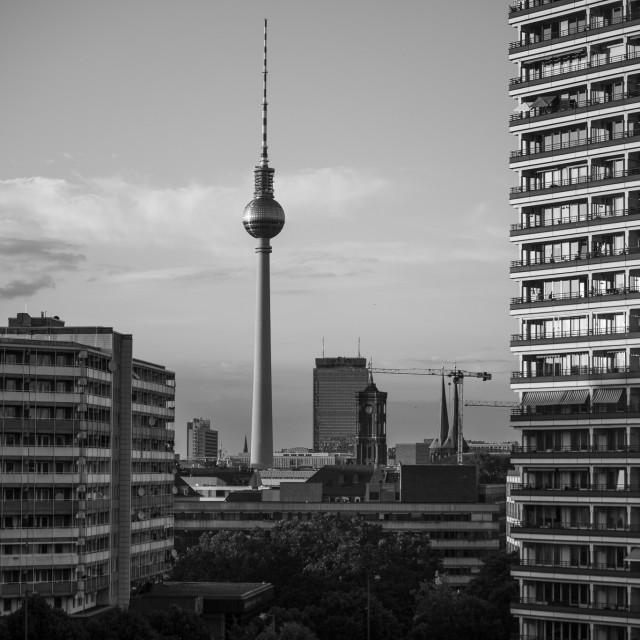 """Alexanderplatz Tower"" stock image"
