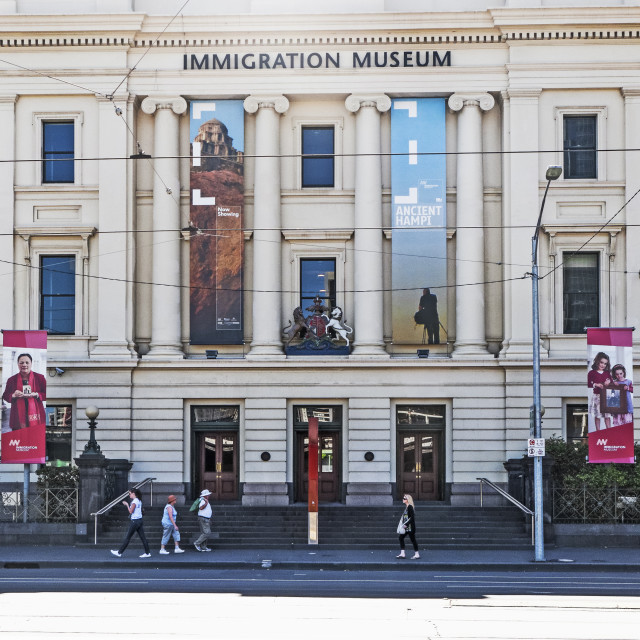 """""""Immigration Museum"""" stock image"""