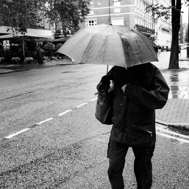 """""""Cold and wet in the city"""" stock image"""