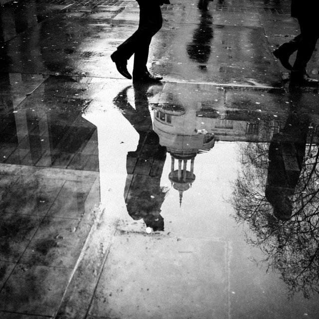 """Street Reflection"" stock image"