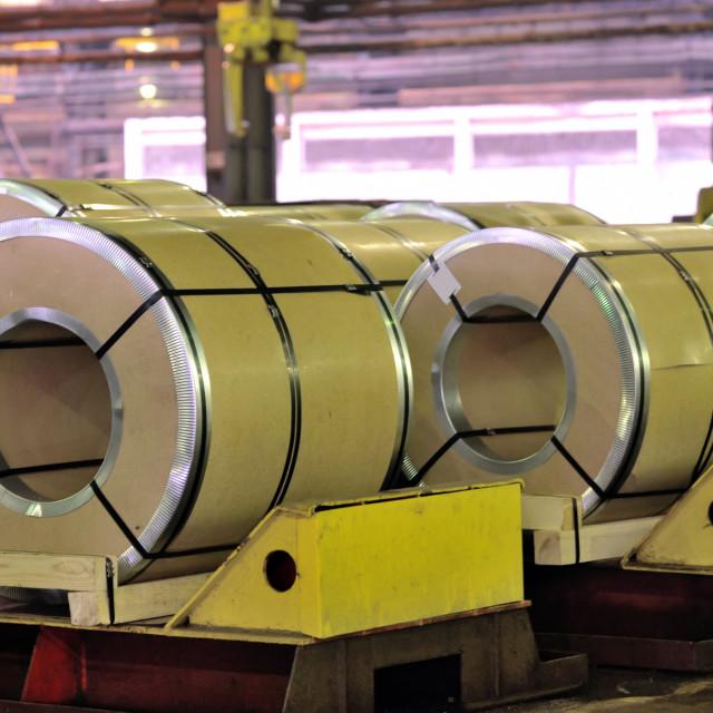 """rolls of steel sheet"" stock image"