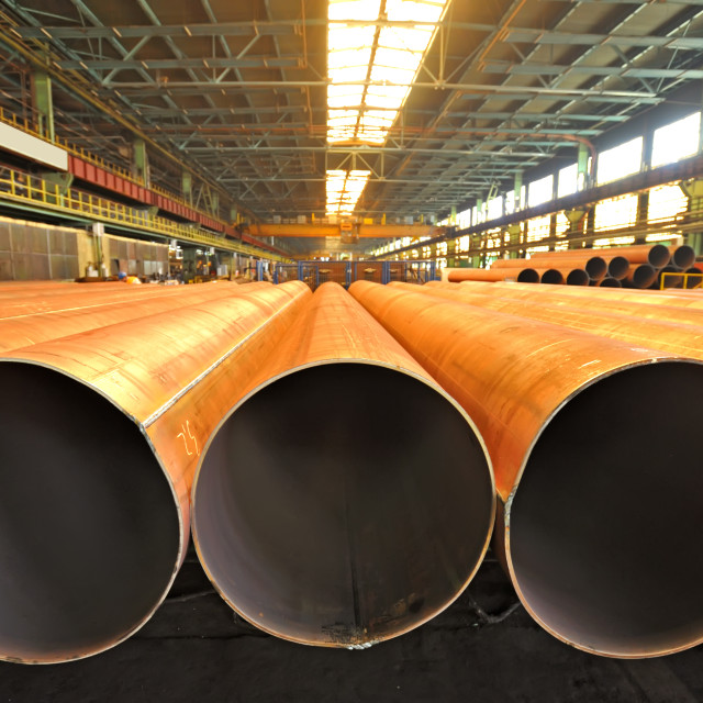 """Merchandise for heavy industry steel pipes"" stock image"