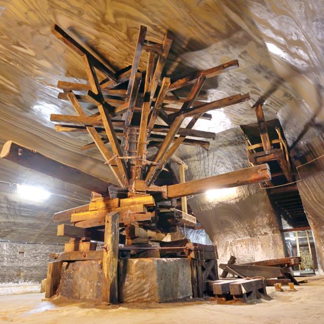 """old extraction salt machine"" stock image"