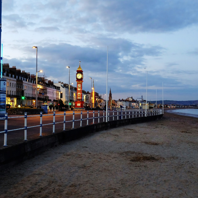 """Looking down the Prom"" stock image"