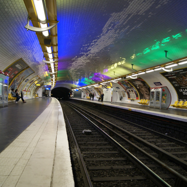 """Paris Metro 2"" stock image"