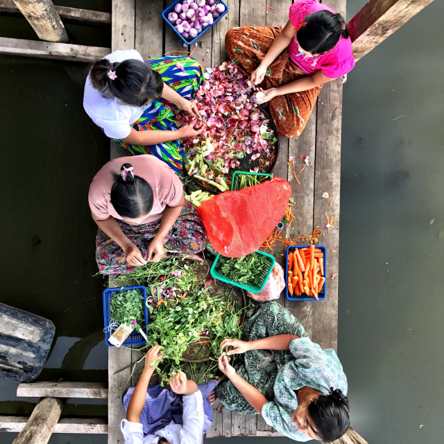 """Working-Inle Lake"" stock image"