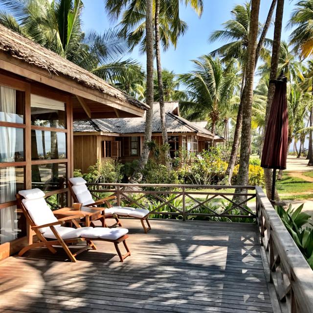"""Amara Beach resort, Myanmar"" stock image"