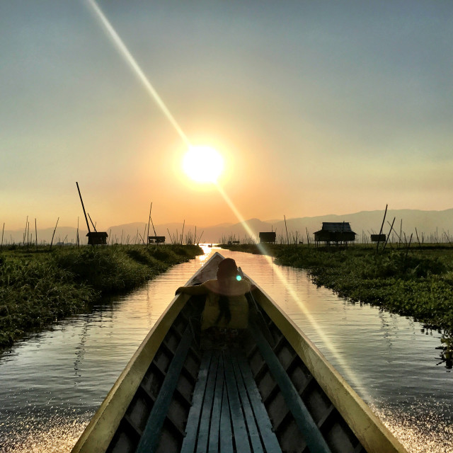 """Inle Lake, Myanamar"" stock image"
