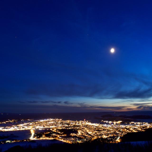 """Bodø by night"" stock image"