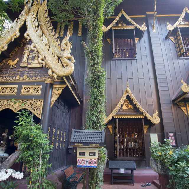 """THAILAND CHIANG RAI WAT PHRA KAEW"" stock image"