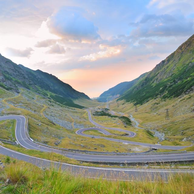 """Transfagarasan winding road"" stock image"