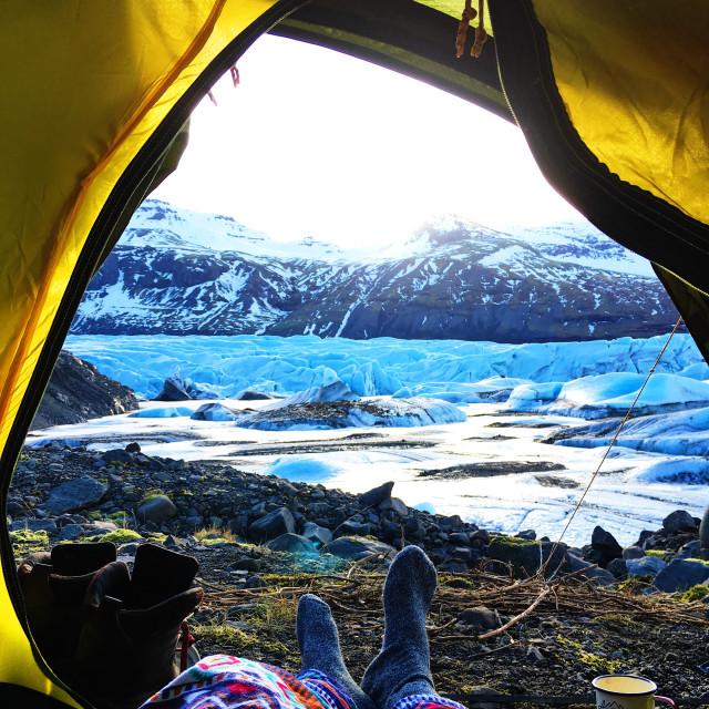 """Wake glacier."" stock image"