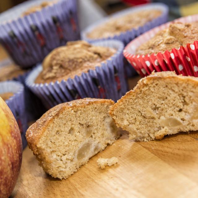 """Apple & Cinnamon Cakes"" stock image"