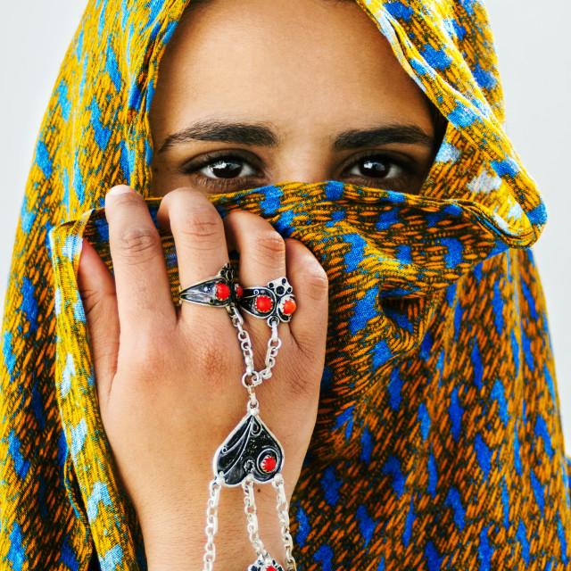 """""""The Desert Girl"""" stock image"""