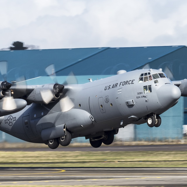 """Lockheed Martin C-130 H Hercules"" stock image"