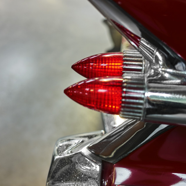 """American car tail lights"" stock image"