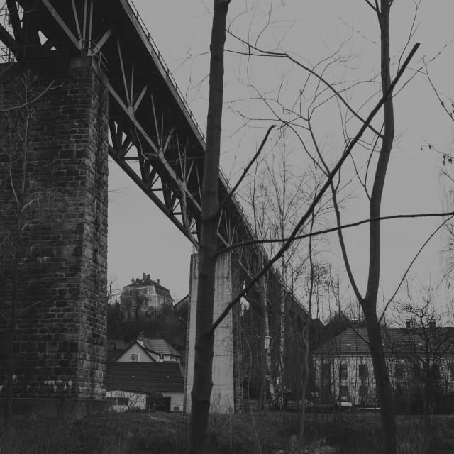 """Railway bridge"" stock image"