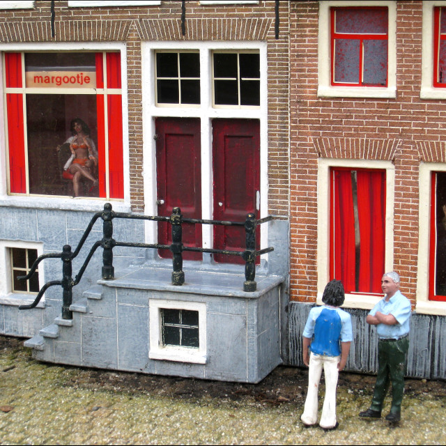 """Red light district Amsterdam"" stock image"
