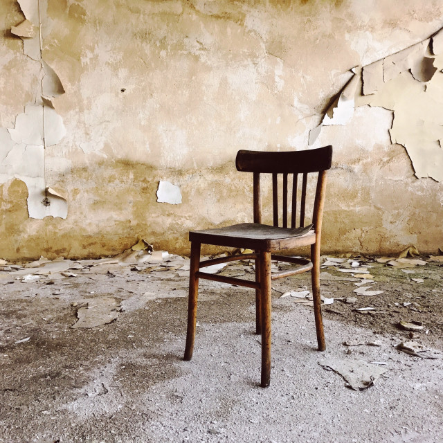 """""""Abandoned chair"""" stock image"""