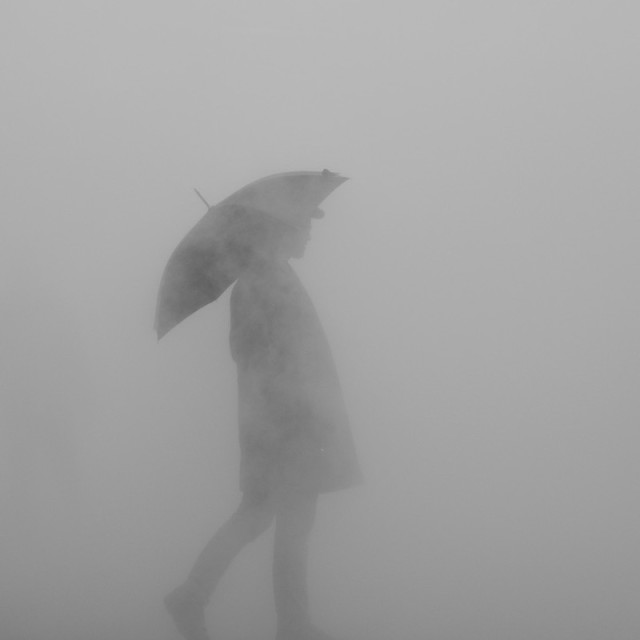 """Umbrella Man"" stock image"