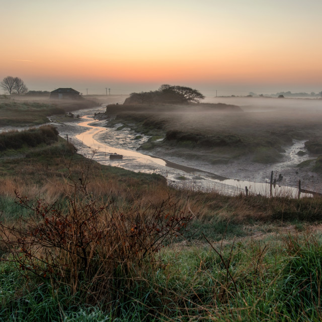 """Beaumont Misty Sunrise"" stock image"