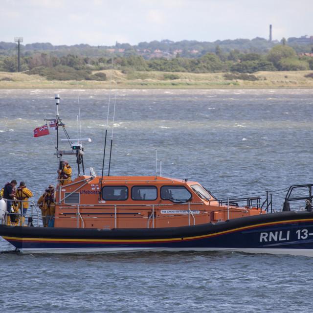 """""""Hoylake Lifeboat Edmund Hawthorne Micklewood"""" stock image"""