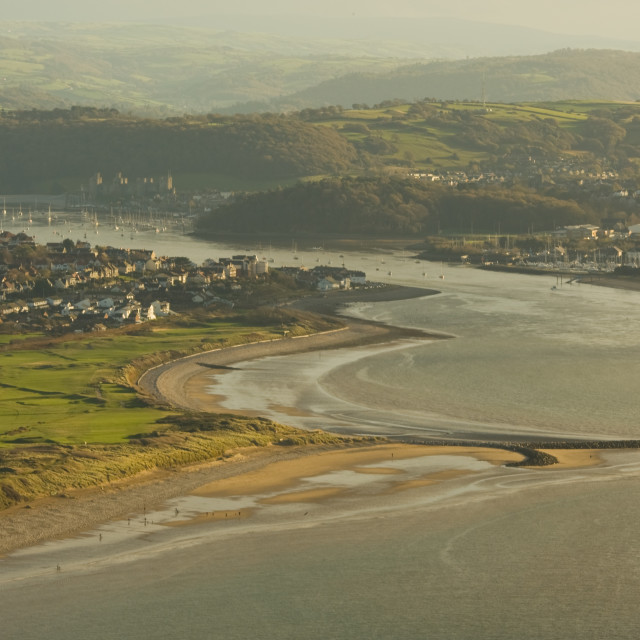 """""""LOOKING A CONWY"""" stock image"""