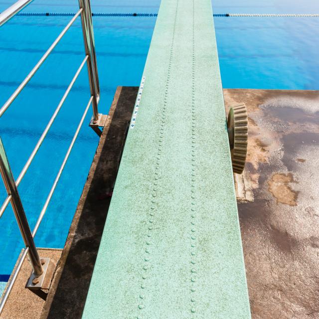 """""""Diving Boards Pools Aquatics"""" stock image"""