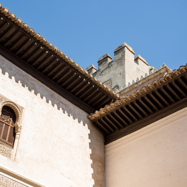 """Nasrid Roof"" stock image"