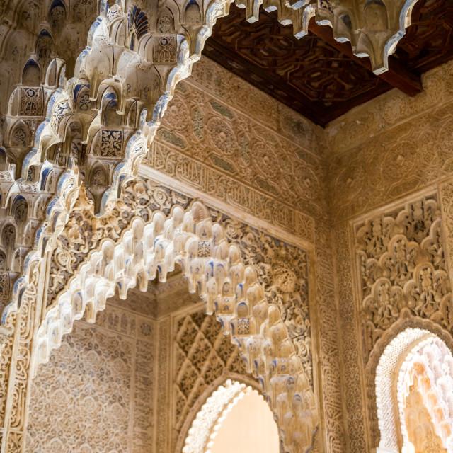 """Alhambra Ceiling"" stock image"
