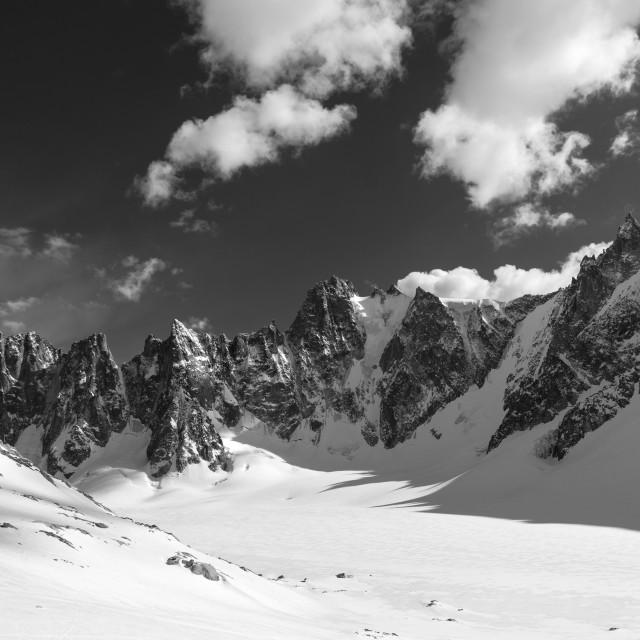 """""""Glacier d'Argentière"""" stock image"""