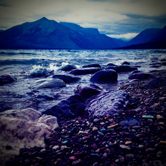 """Lake McDonald"" stock image"