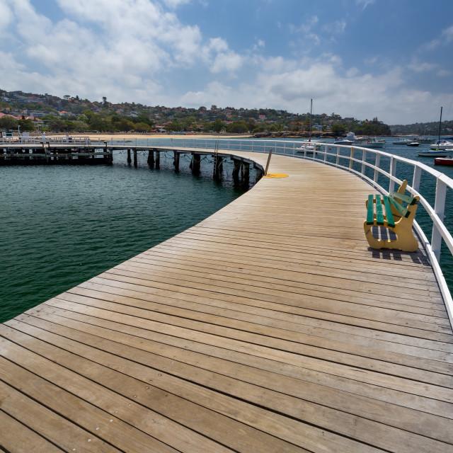 """Balmoral Pier - Mosman Australia"" stock image"