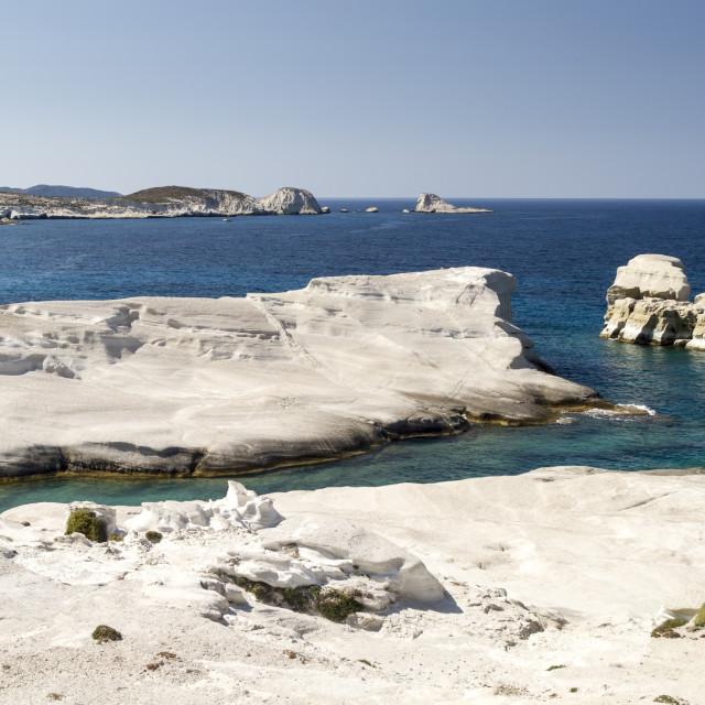 """""""White Beach of Sarakiniko"""" stock image"""