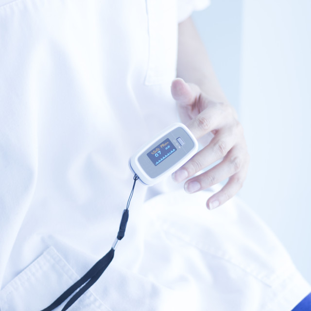 """Blood pressure finger monitor"" stock image"