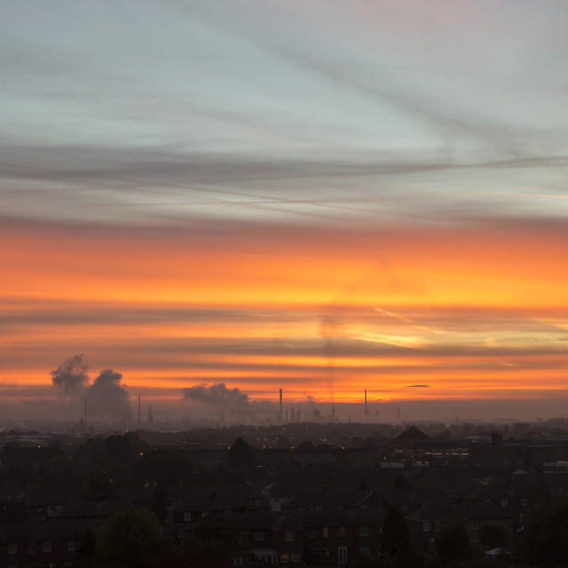 """Industrial Dawn"" stock image"