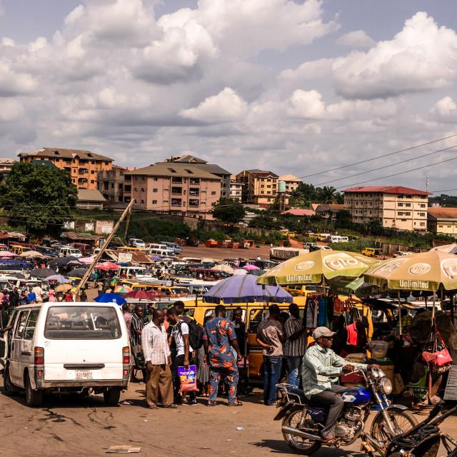 """""""Nigerian bus park Anambra"""" stock image"""