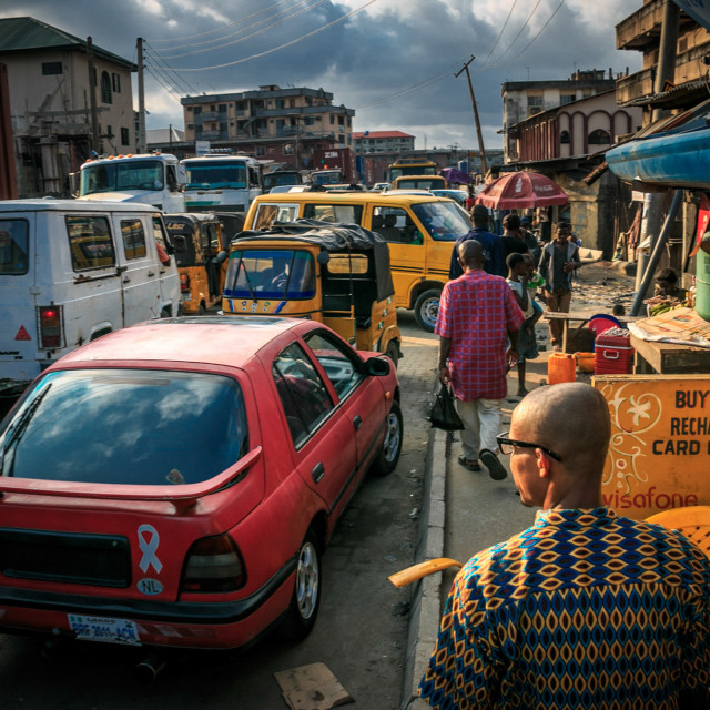 """""""Another Lagos traffic"""" stock image"""